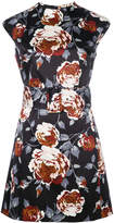 Theory floral print belted dress