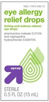up & up Eye Allergy Relief Drops - 0.5 oz - up & up