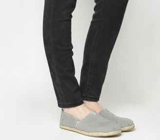 Toms Seasonal Classic Slip On Drizzle Grey Rope Sole