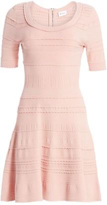 Milly Dahlia Textured Tech A-Line Dress