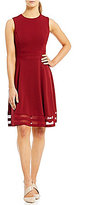 Calvin Klein Illusion Hem Fit-and-Flare Dress