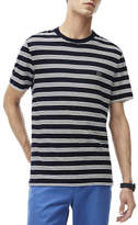 Lacoste Cotton Linen Stripe Tee