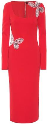 David Koma Embellished stretch-cady dress