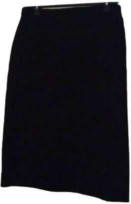 Nina Ricci Black Wool Skirt for Women Vintage
