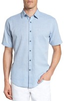 James Campbell Men's 'Ellerbe' Regular Fit Short Sleeve Sport Shirt
