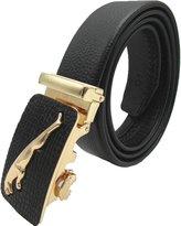 Kingsun Jaguar Design Men Belts Automatic Buckle Genuine Leather Belt