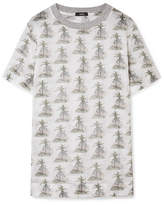 Bassike Printed Cotton-gauze T-shirt - White