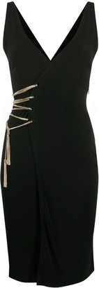 DSQUARED2 Chain-Detail Wrap Dress