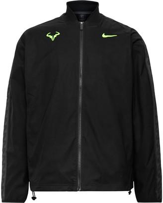 Nike Tennis Rafa Embroidered Satin-Jersey Tennis Jacket