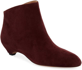 Alaia Chamois Wedge Ankle Booties