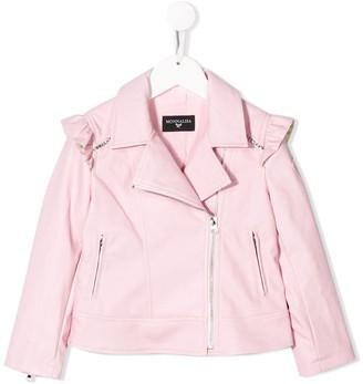 MonnaLisa ruffled biker jacket