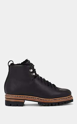 Feit Women's Shearling-Lined Leather Ankle Boots - Black