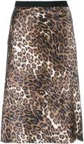Nili Lotan leopard print skirt - women - Silk - 2