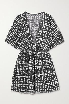 Eres Printed Stretch-jersey Mini Dress - Dark gray