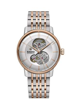 Rado Coupole Classic Open Heart Dial Automatic Two-Tone Bracelet Watch