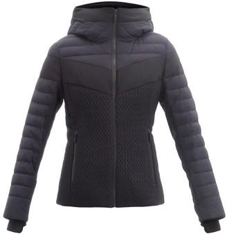Fusalp Amalienne Smocked Quilted Down Ski Jacket - Black