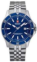 Swiss Military Hanowa Men's Flagship 06-5161-7-04-003 Stainless-Steel Swiss Quartz Watch with Blue Dial