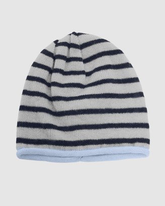 Kate & Confusion - Women's Blue Hats - Rugby Stripe Beanie - Size One Size at The Iconic