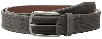 Johnston & Murphy Perforated Suede (Navy) Men's Belts