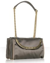 grey satin 'Miss Camp' double sectioned evening bag