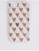 M&S Collection iPhone 7 Heart Print Phone Case