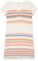 Lemlem Yodit Striped Cotton-blend Gauze Mini Dress - Coral