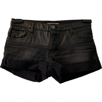 Maje Black Cotton - elasthane Shorts for Women