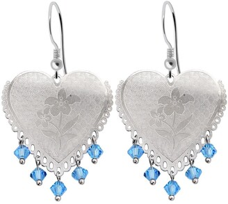 Essence Jewelry Country Of Cubic Zirconia Sterling Silver Ball Dangle Earrings by Essence Jewelry