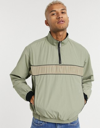 NATIVE YOUTH polytricot track co-ord jacket in beige