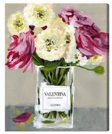 Oliver Gal Acqua Florale Canvas Wall Art