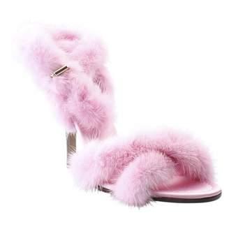 Valentino \N Pink Fur Heels