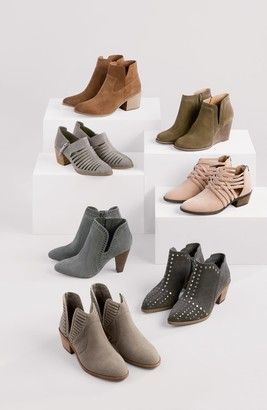 BP Brice Leather Block Heel Bootie