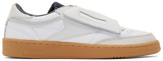 Nanamica White and Grey Reebok Edition Club C Stomper Sneakers