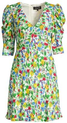Saloni Colette Floral Mini Dress