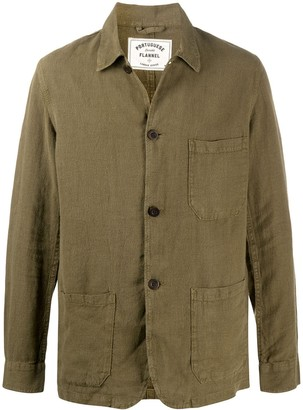 Portuguese Flannel Labura patch-pocket shirt jacket
