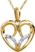 Jessica Simpson Heart Diamond Accent Pendant in 10k Rose Gold