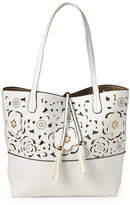 Imoshion White & Gold Reversible Laser Cut Tote