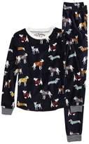 PJ Salvage Fitted Print Fleece Two-Piece Pajamas