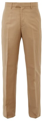 Bottega Veneta Mohair-blend Slim-fit Trousers - Camel