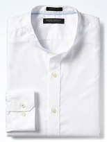 Banana Republic Grant Slim-Fit Supima® Cotton Banded-Collar Shirt