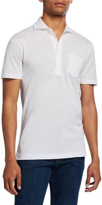 Ralph Lauren Purple Label Men's Jersey Pocket Polo Shirt, White