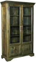 Yosemite Home Decor 18 in. x 47 in. with 2-Glass Panel Door Big Cabinet in Charcoal Green
