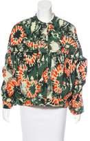 Raquel Allegra Long Sleeve Jacquard Jacket w/ Tags
