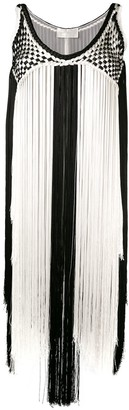 Alberta Ferretti two tone dress