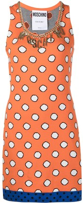 Moschino Logo-Embellished Polka-Dot Mini Dress