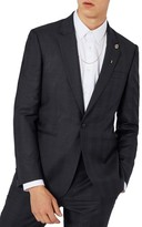 Topman Men's Charlie Casely-Hayford X Skinny Fit Check Suit Jacket