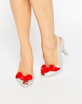 Melissa Lady Dragon Pearl Red Cherub Sling Heeled Sandals