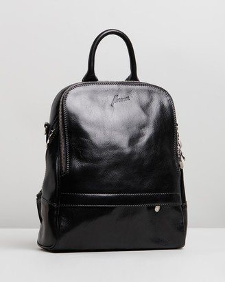Florence - Women's Black Leather bags - Donna Backpack - Size One Size at The Iconic