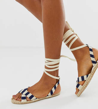 Asos Design DESIGN Jala espadrille flat sandals