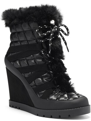Jessica Simpson Brixel Lace-Up Boot with Faux Fur Trim